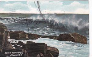 Rhode Island Newport Surf At Easton's Point 1910