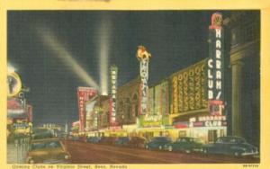 Gaming Clubs in Virginia Street, Reno, Nevada, unused lin...