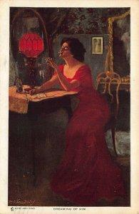 Artist Alfred James Dewey Beautiful WomanDreaming of Him Postcard