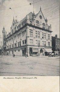 WILLIAMSPORT , Pennsylvania, PU-1908; Masonic Temple