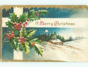 Divided-Back CHRISTMAS SCENE Great Postcard W9313