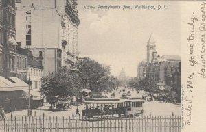 WASHINGTON, D.C., 1906 ; Pennsylvania Ave., Trolley