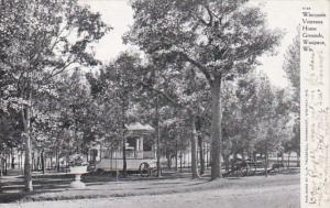 Wisconsin Waupaca Wisconsin Veterans Home Grounds 1907 Curteich