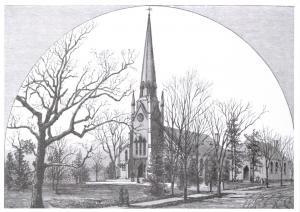 Postcard Art Sketch First Congregational Church, Middlesex County, Mass USA  A74