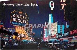 Modern Postcard Fremont St Las Vegas Nevada