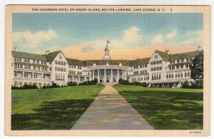 Lake George, N.Y., The Sagamore Hotel On Green Island, Bolton Landing