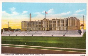 Lehman High School and Athletic Field Canton Ohio USA Postcard