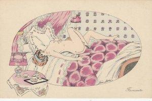 Artist XAVIER SAGER ; Nude Woman in bed Farniente , 00-10s