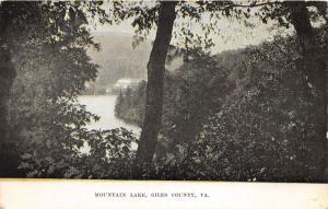 F4/ Giles County Virginia Postcard Mountain Lake Birdseye View