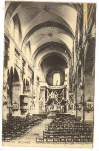 Interieur De l'Eglise St-Christopher, Belfort (Territoire de Belfort), France...