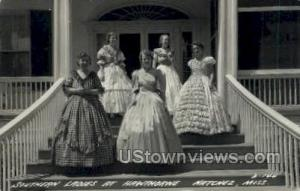 Southern Ladies At Hawthorne  - Real Photo Natchez MS Unused