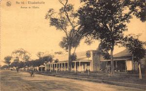 Belgian Congo Belge Elisabethville Avenue de l'Etoile Postcard