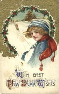 Artist Signed Samuel Schmucker, Postcard Postcards With Best The New Year Wis...