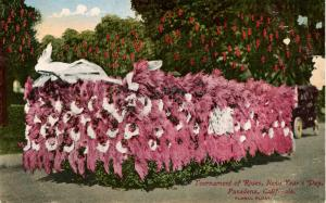 CA - Pasadena. New Year's Day Tournament of Roses. Floral Float