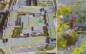 Canada Hotel Bonaventure Showing Rooftop Garden & Swimming Pool Montreal Quebec