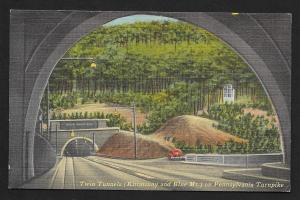 Twin Tunnels Kittatinny & Blue Mt Pennsylvania Turnpike