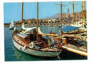 Menton , France , 50-60s   Boats in Port
