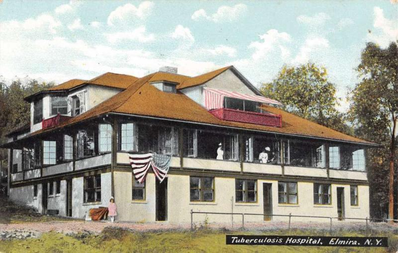 Elmira New York Tuberculosis Hospital Exterior Antique Postcard K29422