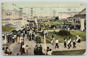 Oklahoma City Oklahoma~Sight Seeing State Fair Grounds~Auditorium on Right~c1910