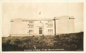 1920s School House Pilot Rock Oregon RPPC Real photo Umatilla 11874