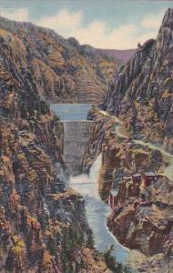 Wyoming Yellowstone National Park Highway And Dam Shoshone Canon On Cody Way ...