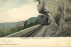 switzerland, BRÜNIGBAHN,  Brünig Railway Line Train, Brienzersee (1905)