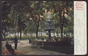 Fountain,Capitol Park,Madison,WI Postcard