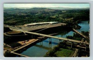 Asheville NC, Smoky Mountain Bridge At Westgate, Chrome North Carolina Postcard