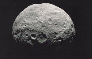Vesta's North Pole Outer Space Mars Jupiter Asteroid Belt Photo Postcard