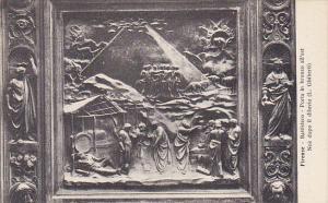 Italy Firenze Battistero Porta in bronzo all'est Noe dopo il diluvio
