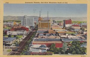 Bird's Eye View, Showing Goodyear Tires Building, PHOENIX, Arizona, PU-1948