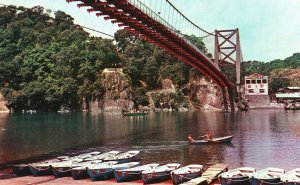 Vintage Postcard Green Lake Taipei Taiwan