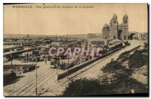 Old Postcard Marseille General view of Basin Joliette