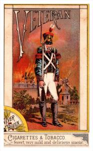 Trade Card Veteran Cigarettes & Tobacco