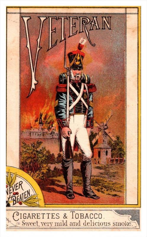 16365  Trade Card Veteran Cigarettes & Tobacco