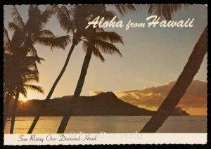 Aloha from Hawaii - Sun rising over diamond head