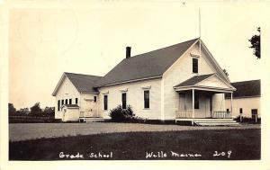 Wells ME Grade School in 1939 RPPC Postcard