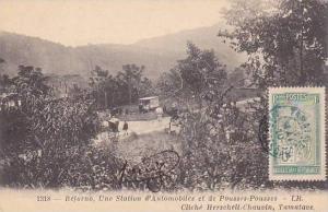 Madagascar Beforno Une Station d'Automobiles et de Pousses-Pousses 1910