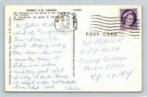 Quebec-Canada, Changing of Guard at La Citadel, Chrome c1959Postcard