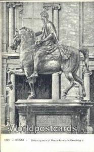 Roma, Italy, Italia Statua Equestre di Marco Aurelio in Campidoglio  Statua E...