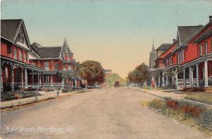 Pennsburg Pennsylvania Main Street Antique Postcard J54702
