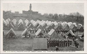 US Naval Training Station Great Lakes IL Illinois Camp Unused Postcard F11