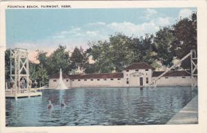 Fountain Beach, Swimming, FAIRMONT, Nebraska, 1910-1920s