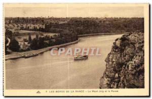 Old Postcard The Banks Of The Mont Joly and the Rance