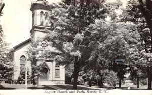 Morris New York Baptist Church Real Photo Antique Postcard K92526