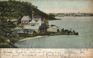 australia, Perth and Swan River, W.A., from King's Park (1906) Postcard