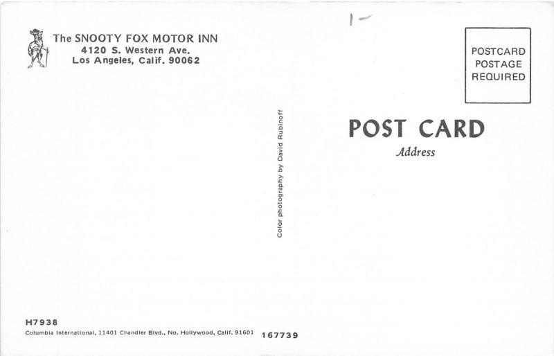 Los angeles california snooty fox motor inn south western for Snooty fox motor inn