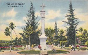 Puerto Rico Aguadilla Parque de Colon 1945