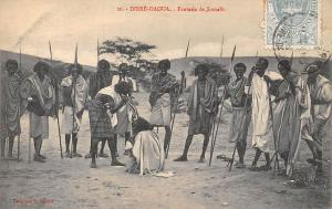 Ethiopia Dirre-Daoua, Fantasia de Somalis, Natives, Spears, Hunters, Warriors