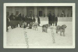 Winnipeg Manitoba CANADA RPPC 1922 DOG SLED Race WINTER CARNIVAL Huskies Husky